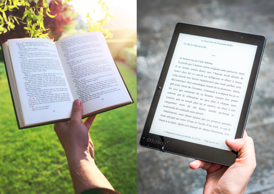 WHOSE SIDE ARE YOU ON – Ebook reader or paper book?